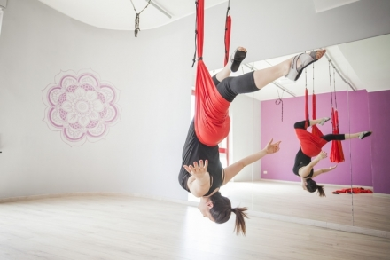 Allenamento in sospensione - BodyFlying - Centro Pilates Yoga Roma